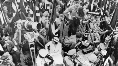 Riefenstahl on set in Nuremberg, 1934