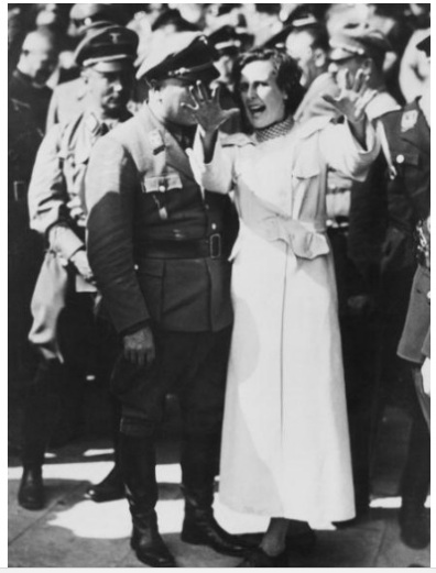 Riefenstahl directing, Nuremberg, 1934